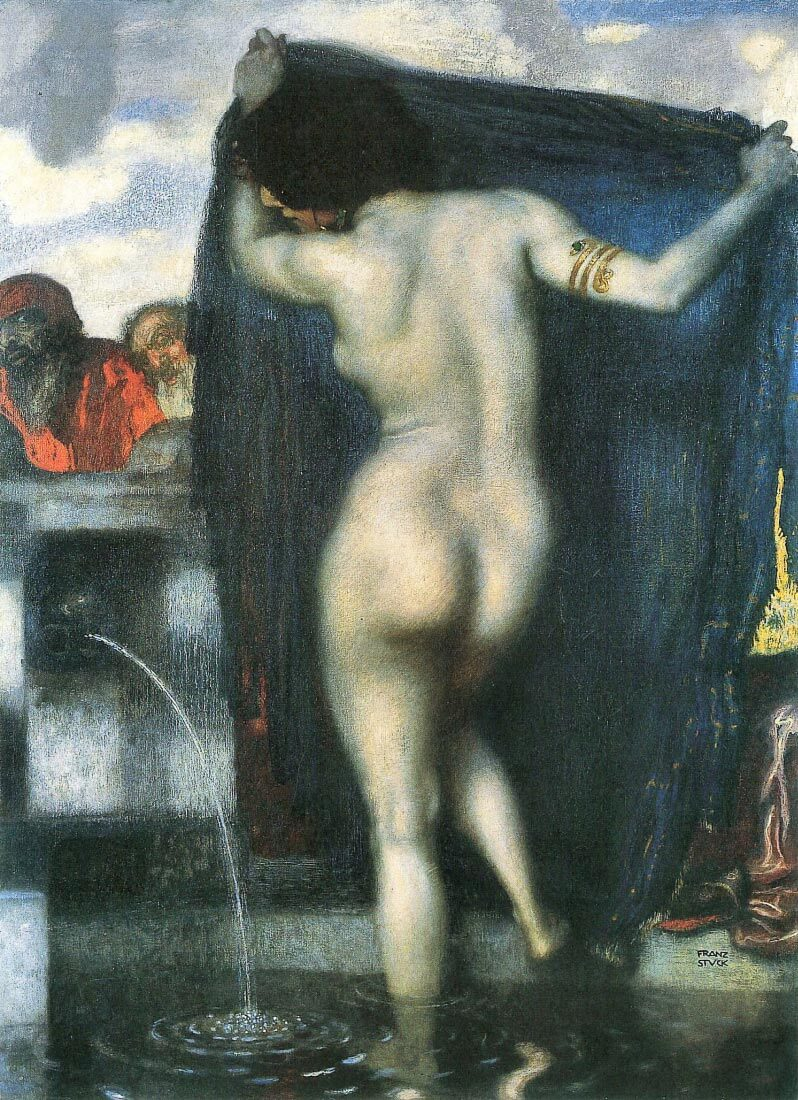 Susanna in the bath [1] - Franz von Stuck